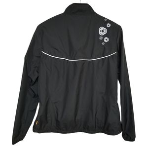 Lucy Black Running Rain Jacket L